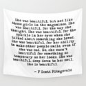She was beautiful - Fitzgerald quote by quoteme