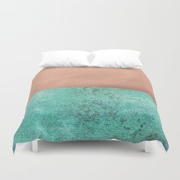 NEW EMOTIONS - ROSE & TEAL Duvet Cover