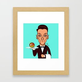 How may I assist you? Framed Art Print