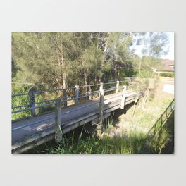 timber bridge Canvas Print