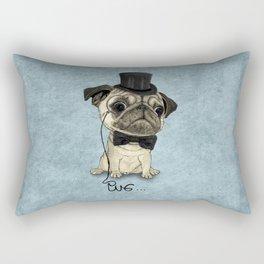 Pug; Gentle Pug (v3) Rectangular Pillow