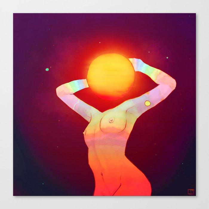 Sun Head Canvas Print