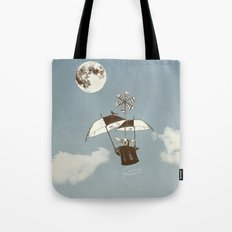 Over the Amazon to the Moon Tote Bag