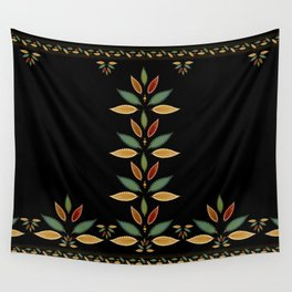 """""""Tree of Polka Dots Leaves (Black)"""" Wall Tapestry"""