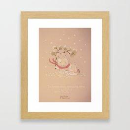 Christmas creatures- Kitties in love Framed Art Print