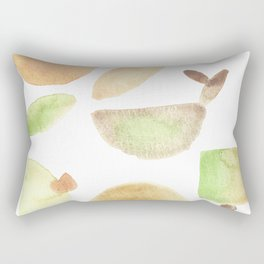 Flow of the moon - earthly abstract minimalism Rectangular Pillow