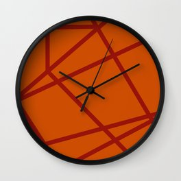 Lost In Another Dimension - Orange Wall Clock
