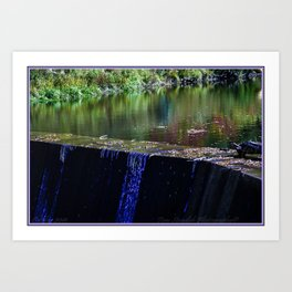 Water, Damn  Autumn Art Print
