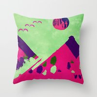 watermelon Throw Pillows featuring Watermelon  by SensualPatterns