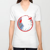 agent carter V-neck T-shirts featuring Agent Carter by offbeatzombie