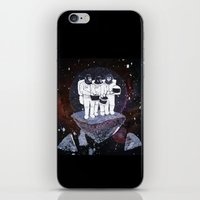 planet of the apes iPhone & iPod Skins featuring Meteoric Apes by Tom Bryce