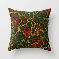 rasta Throw Pillows featuring Rasta Time... by Cherie DeBevoise
