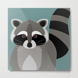 Raccoon Rascal Metal Print