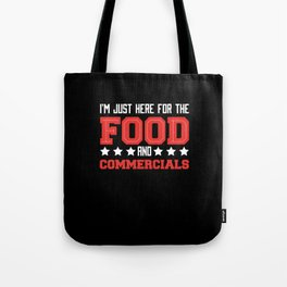 American Football Food and Commercials Tote Bag