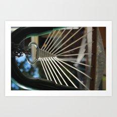 rings, strings, and things Art Print