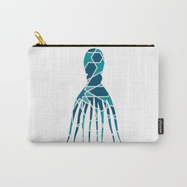 OCTOPUS SILHOUETTE WITH PATTERN Carry-All Pouch