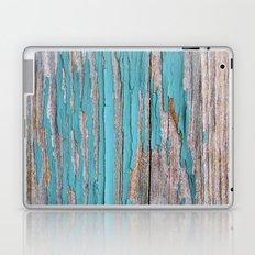 Rustic turquoise weathered wood shabby style Laptop & iPad Skin