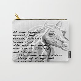 White Horse of a King Carry-All Pouch