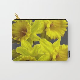 YELLOW SPRING DAFFODILS & CHARCOAL GREY COLOR Carry-All Pouch