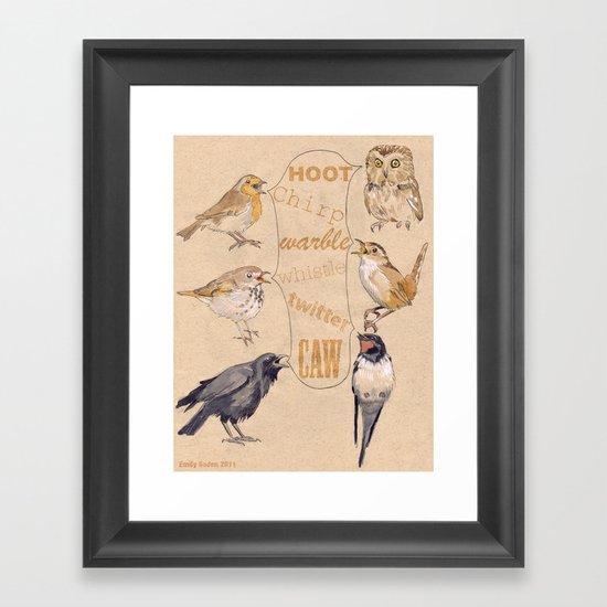 Bird Sounds Framed Art Print