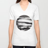 the strokes V-neck T-shirts featuring Black Strokes by Alina Shevchenko