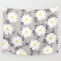 daisies Wall Tapestries featuring Daisies by Georgiana Paraschiv
