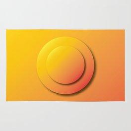 Ripe Orange Button - Gradient Bullet Point Rug