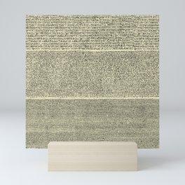 The Rosetta Stone // Parchment Mini Art Print
