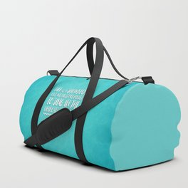 Life Is A Shipwreck Quote Duffle Bag