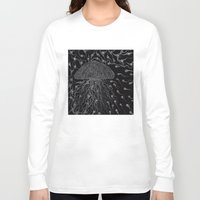 jelly fish Long Sleeve T-shirts featuring Jelly Fish by OKAINA IMAGE