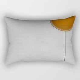 Orange Faced Balloon Rectangular Pillow