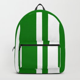 Mixed Vertical Stripes - White and Green Backpack