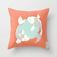 Koi fish 004 Throw Pillow