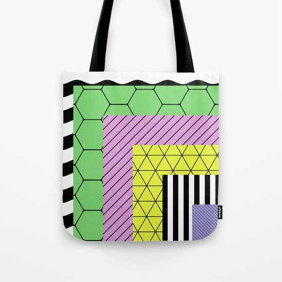 Go Bigger (Abstract, geometric, pastel designs) Tote Bag