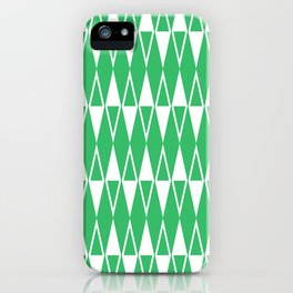 Mid Century Modern Diamond Pattern Green 234 iPhone Case
