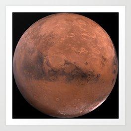 Schiaparelli Hemisphere, Mars Art Print