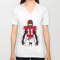 kansas city V-neck T-shirts featuring SB L Kansas City by Akyanyme