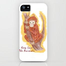 Orangutan In The Forest iPhone Case