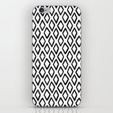 Abstract geometric pattern. Black and white rhombus background. Modern hand drawn art print. Gift iPhone & iPod Skin