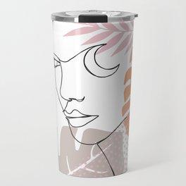 Jungle Line Girl Travel Mug
