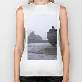 Sphinx in Fog Biker Tank