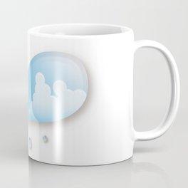 Thunderhead reflected in a Drop of water Coffee Mug