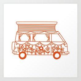 Rosie Campervan Art Print