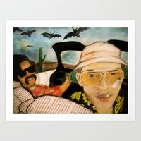fear and loathing Art Prints featuring Fear & Loathing by Lindsey Pudlewski