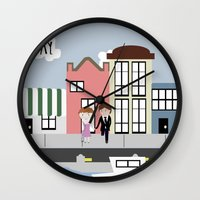 tfios Wall Clocks featuring Amsterdam (TFIOS) by Natasha Ramon