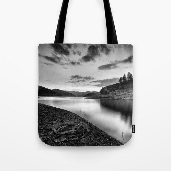 """""""Silver Lake At Sunset"""". Bw Tote Bag"""