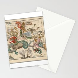 Vintage Celestial Map Stationery Cards