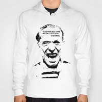 bukowski Hoodies featuring Charles Bukowski Quote Love by Fligo