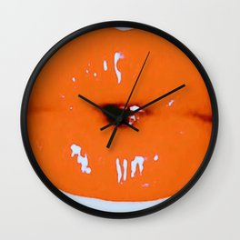 Brilliantly Coral Lips Wall Clock