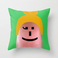 olivia joy Throw Pillows featuring Olivia by Panic Junkie